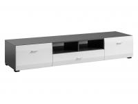 Komoda RTV CLIF grafit & biały mat